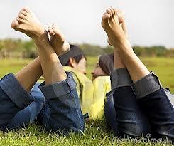 Innamorati sull' erba