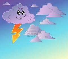 Nuvola Nera con fulmine