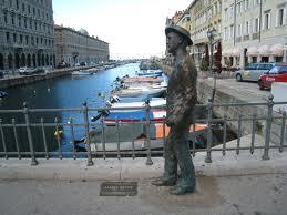 James Joyce sul Ponterosso del Canal Grande - Trieste
